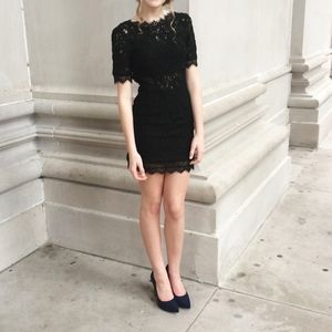 Black Lace Homecoming Formal Dress Short
